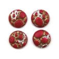 Cabochon CM Classic round 12 mm red