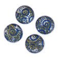 Cabochon CM Classic round 18 mm navy blue