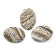 Cabochon CM Striped oval 18x25 beige