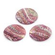 Cabochon CM Striped oval 18x25 pink