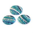 Cabochon CM Striped oval 18x25 turquoise