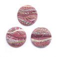 Cabochon CM Striped round 24 pink