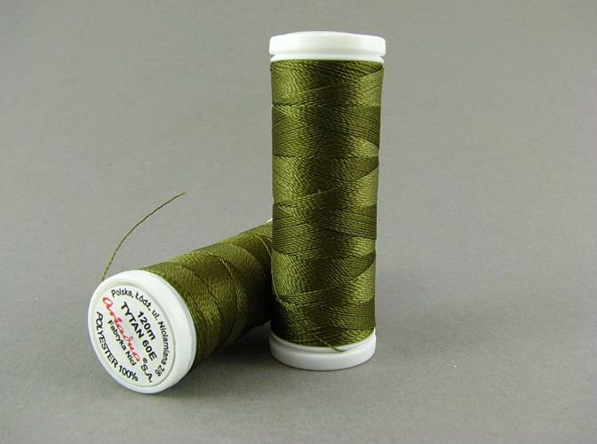Tytan soutache and bead embroidery thread khaki