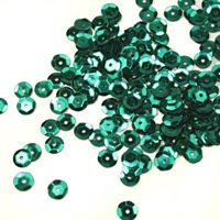 Sequins round 6mm, emerald