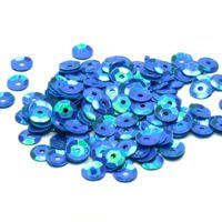 Sequins round 6mm, pearly iridescent, turquoise