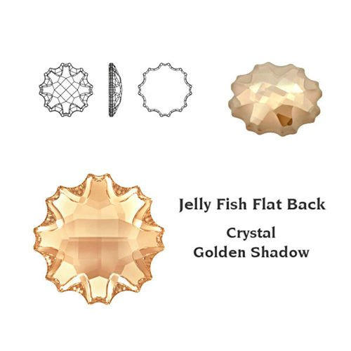 SWAROVSKI Jelly Fish 14 mm Crystal Golden Shadow F