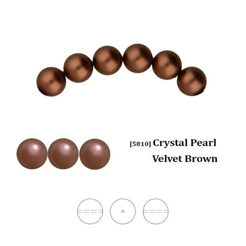 8d5b853909d9 Swarovski 5810 Crystal Pearl 4 mm Velvet Brown