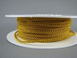 2mm SATIN TWISTED CORD - ANCIENT GOLD // A4203