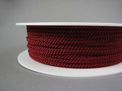 2mm SATIN TWISTED CORD - BORDEAUX // A7571