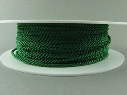 2mm SATIN TWISTED CORD - MOSS GREEN // A7801