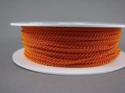2mm SATIN TWISTED CORD - ORANGE // A7353