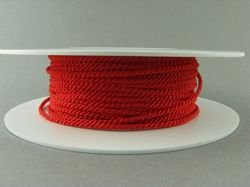 2mm SATIN TWISTED CORD - RED // A7501