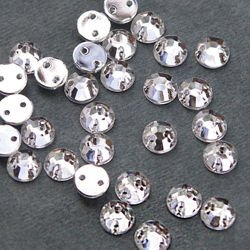 Acrylic crystals round 6mm - Crystal / 10 pcs.