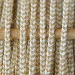 Greek braid 4mm mix raw cotton with jute - beige, 1m