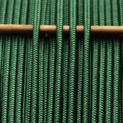 Greek silk braid 4mm - dark green, 1m