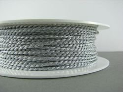 METALLIC CORD TWISTED 2 MM SILVER