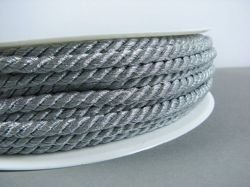 METALLIC CORD TWISTED 4MM SILVER