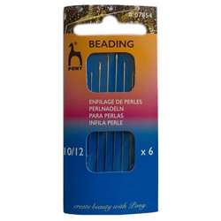 PONY - beading needles set, size 10/12, long
