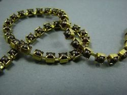 SS14,5 (3,5mm) PEARL CUPCHAIN - BROWN, RAW (UNPLATED)