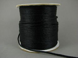 Satin cord (corsed) 2 mm, black