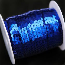 Sequins tape, dark blue