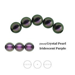 Swarovski 5810 Crystal Pearl 8 mm Iridescent Purple (IPPRL), new color!
