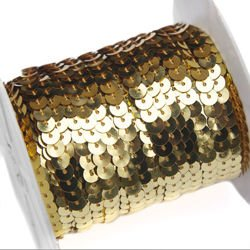 Sequins tape, gold