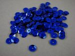 Sequins round 6mm, cornflower