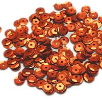 Sequins round 6mm, ginger