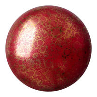 Cabochon par Puca®: Opaque Coral Red Bronze, 25mm, 1 pc