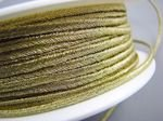 Czech metallized braid 3mm gold