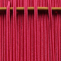 Greek silk braid 4mm - coral, 1m