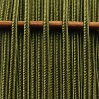 Greek silk braid 4mm - olive, 1m