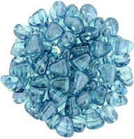 NIB-BIT 6x5mm: Luster - Transparent Blue, 25 pcs