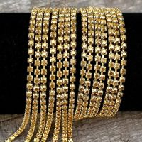 Rhinestone cupchain with Preciosa crystals  ss 8,5 (~2,5mm) Crystal Aurum, raw, 10cm
