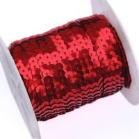 Sequins tape, red