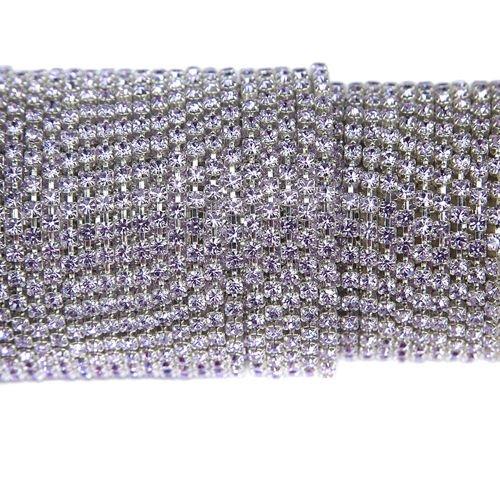 Wszystkie nowe Taśma z kryształkami Preciosa ss 8,5 (~2,5 mm) Violet / silver OK08
