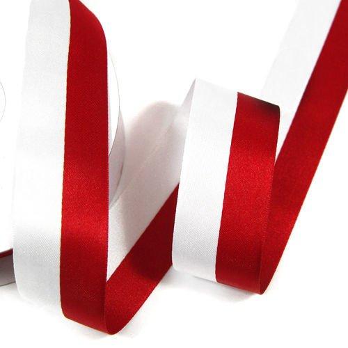 Modernistyczne Wstążka biało-czerwona (flaga narodowa) 3 cm | Wstążki \ atłasowe MF96