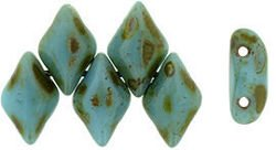 GEMDUO 8x5mm: Blue Turquoise - Picasso, 36 szt.