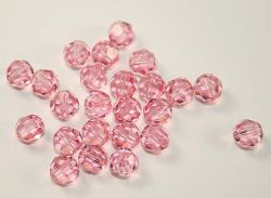 SWAROVSKI ROUND 6MM LIGHT ROSE