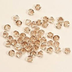 Swarovski 5328 XILION Bicone 4 mm Crystal Golden Shadow GSHA