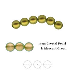 Swarovski 5810 Crystal Pearl 4 mm Iridescent Green (IGPRL), nowy kolor!