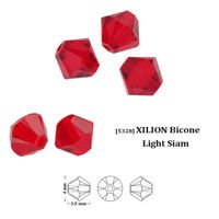 Swarovski 5328 XILION Bicone 4 mm Light Siam